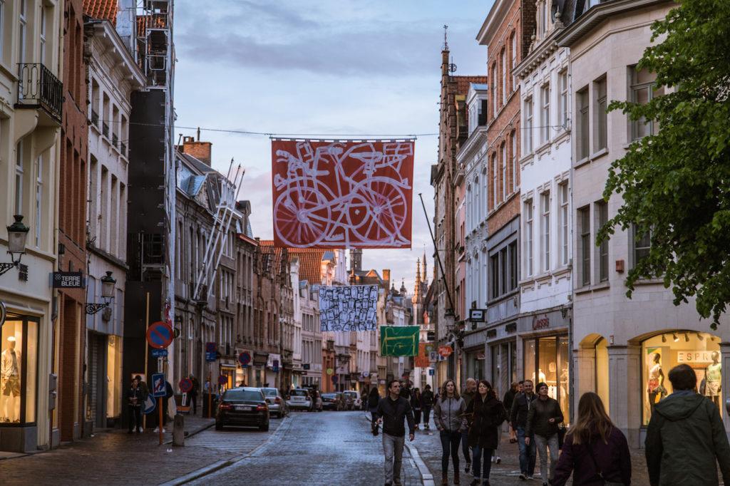 Main street of Bruges