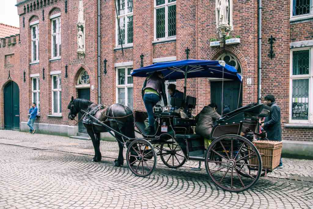 Horse drawn carriage Bruges