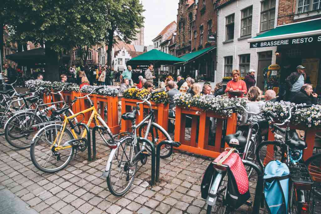 Bruges bicycles