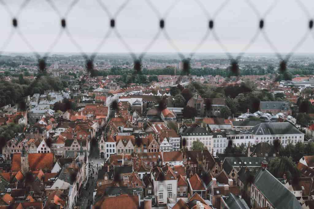 Bruges aerial view