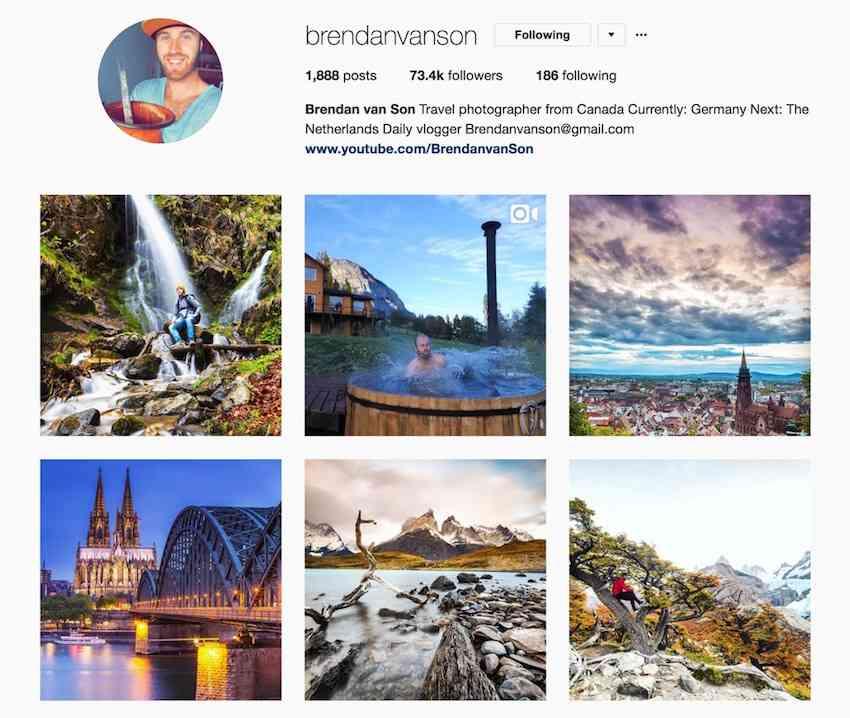 Brendan Van Son Instagram