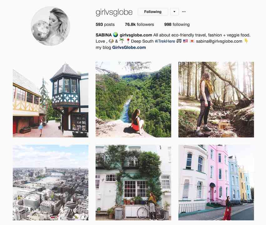 Girl vs Globe Instagram