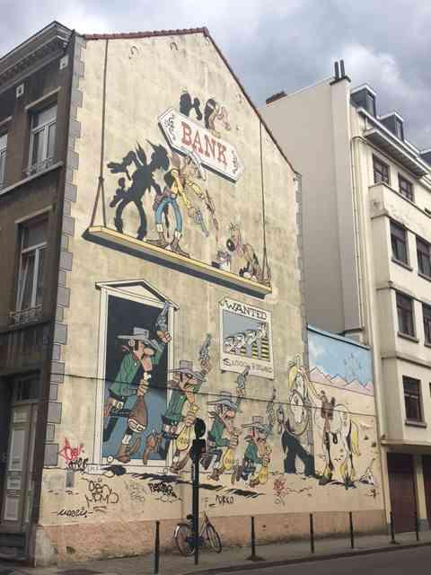 Lucky Luke mural