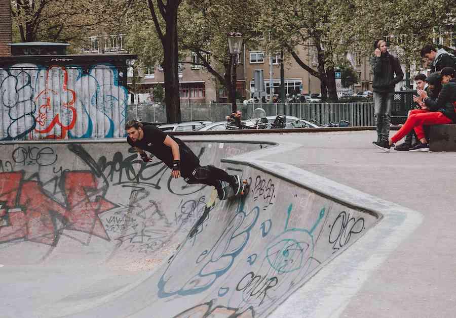 Amsterdam boy skater