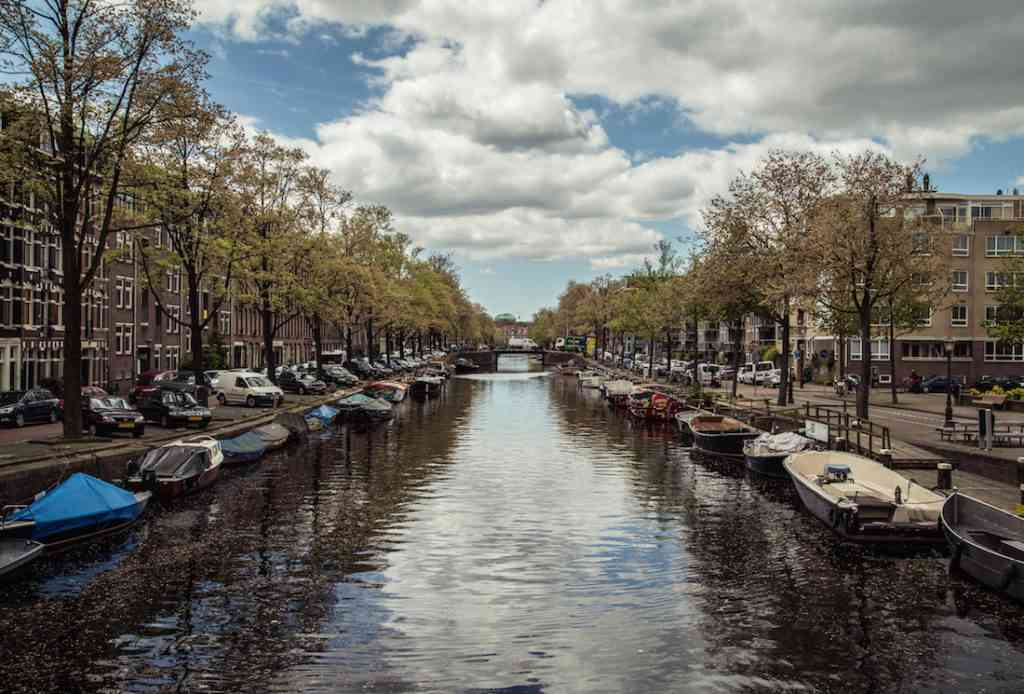 Amsterdam canal sunny