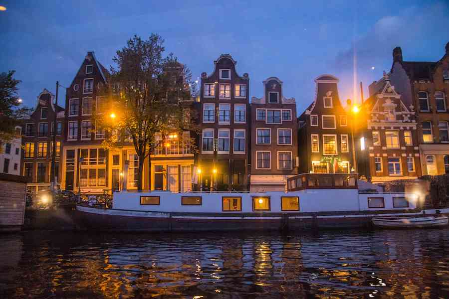 Amsterdam canal night