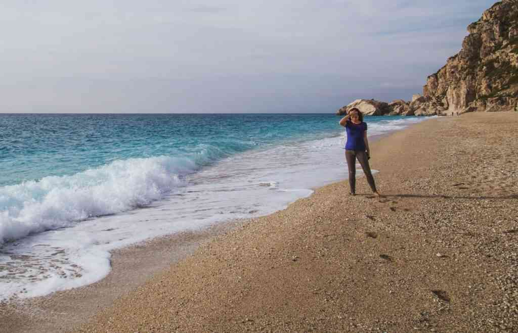 Beach Walk in Lefkada, Greece