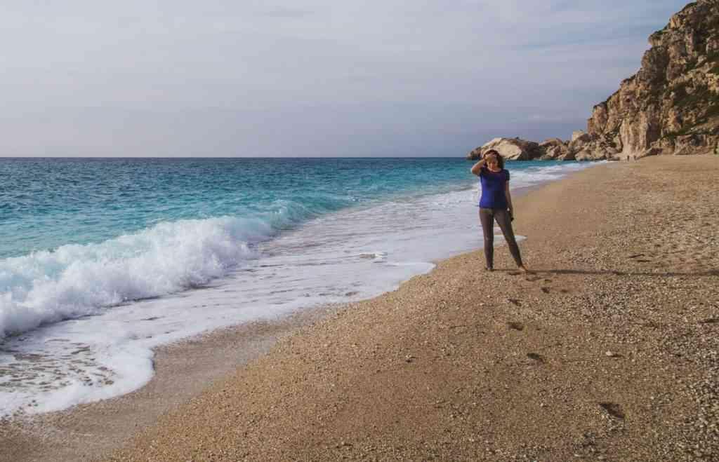 Beach Walk in Lefkada, Greece