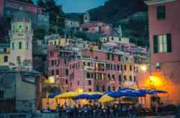 Vernazza, Cinque Terre, at night