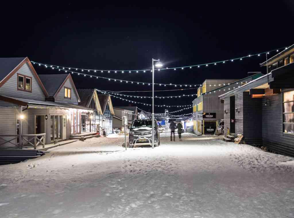 Longyearbyen, Svalbard main road