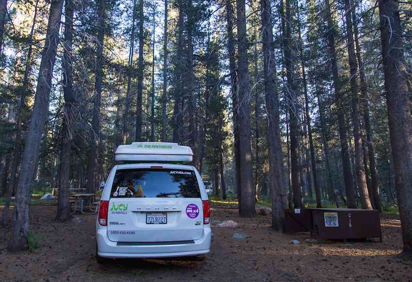JUCY Campervan where to stay