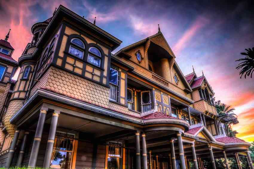 Winchester House sunset