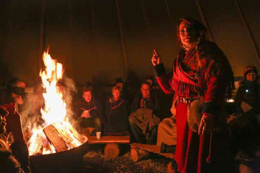 Sami Woman Camp Tromso