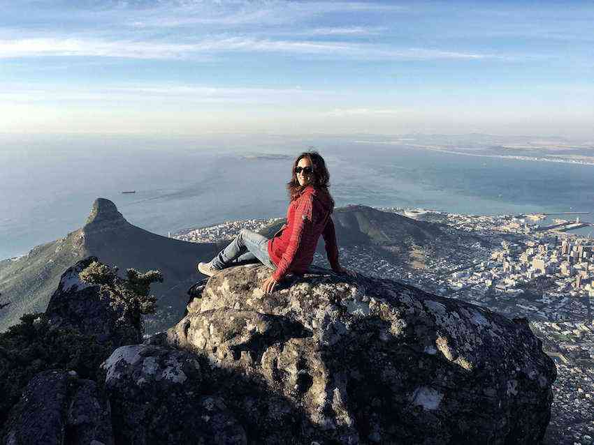 Claudia hiking in Cape Town
