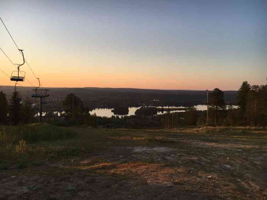 Sunset in Rovaniemi Finland