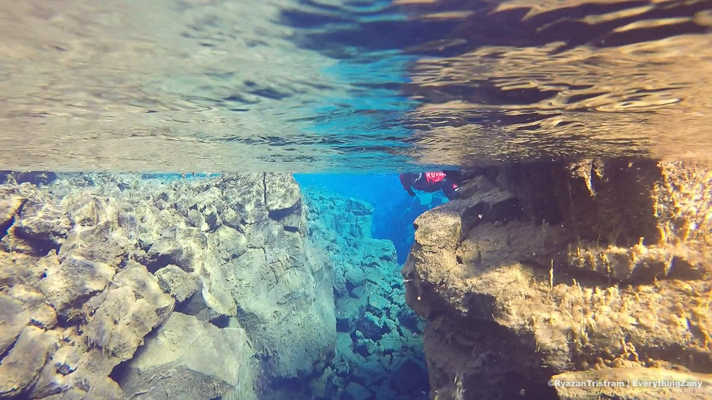 Swimming in Silfra, Iceland