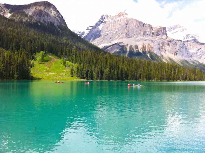 Yoho National Park landscape in Canada