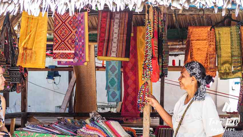 Colorful wares in Zamboanga City, Philippines