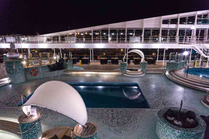 Exterior pool of the MSC Magnifica