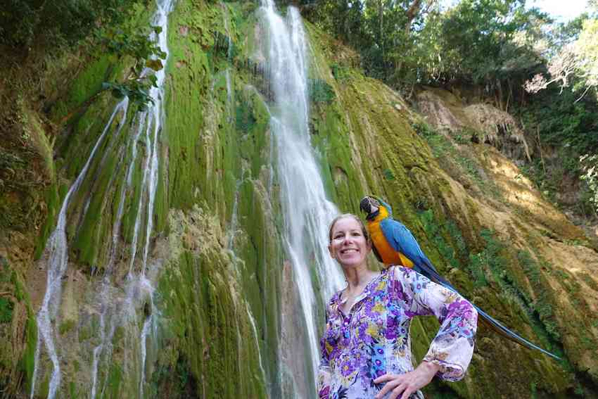 Janice Lintz El Limon Waterfall Dominican Republic