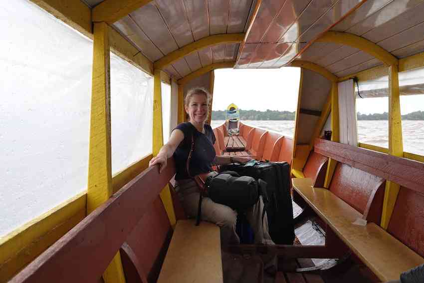 Janice Lintz traveling from French Guiana to Suriname