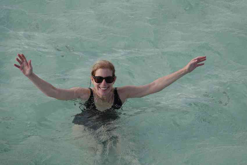 Janice Lintz at the Nylon Pool in Tobago