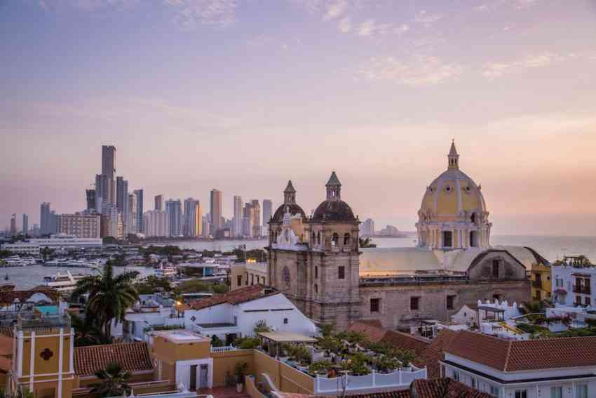 The view from one of the best hotels in Cartagena