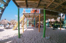 Eco hotels lining the beach of Isla Baru