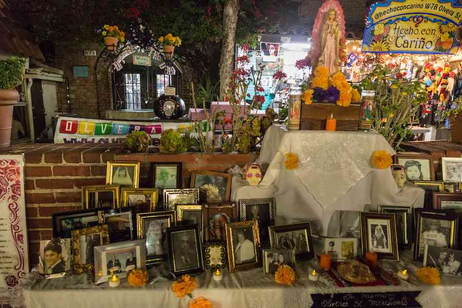 Day of the Dead decorations - Ofrenda Olvera Street