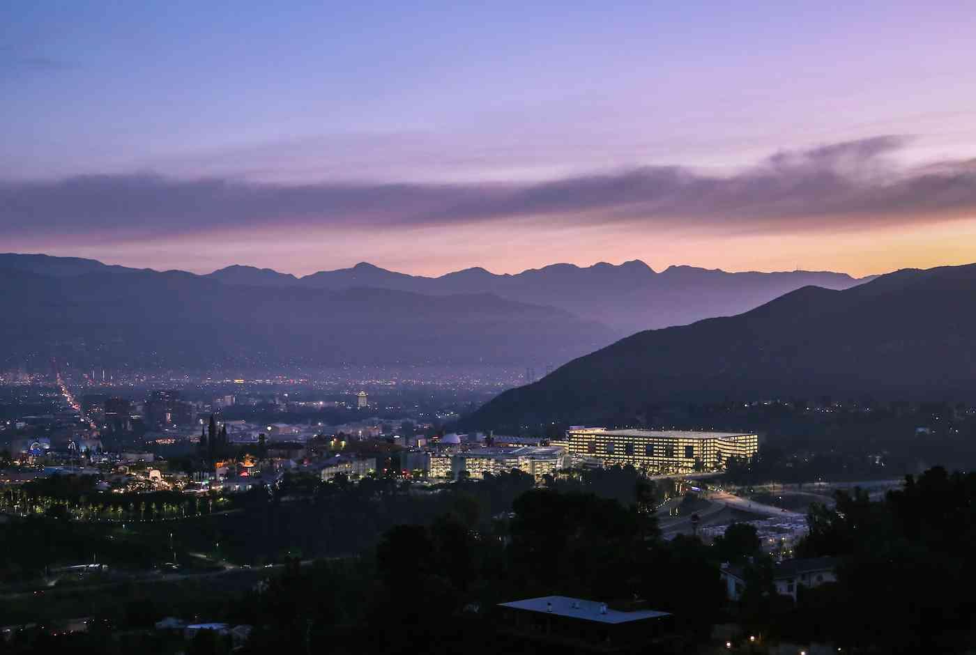 LA sunrise Studio City
