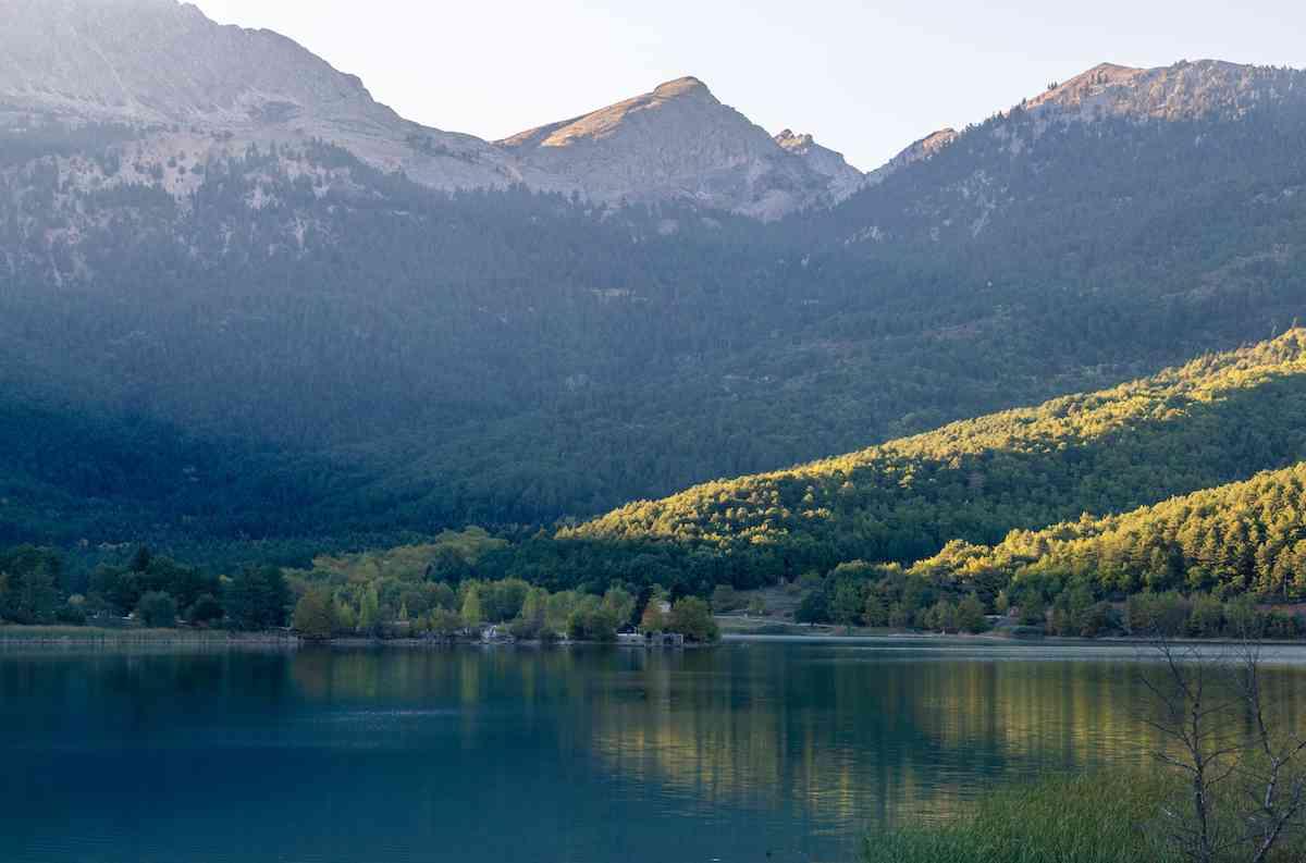 Lake Doxa in Greece