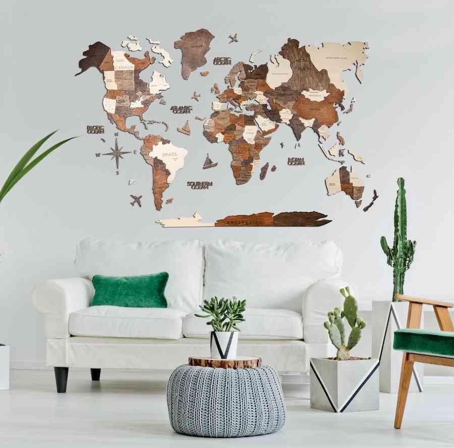 Enjoy the Wood Wall Map