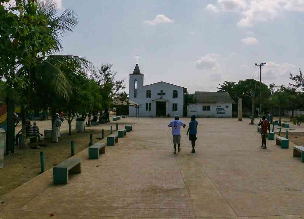 The main square of Palenque, Colombia