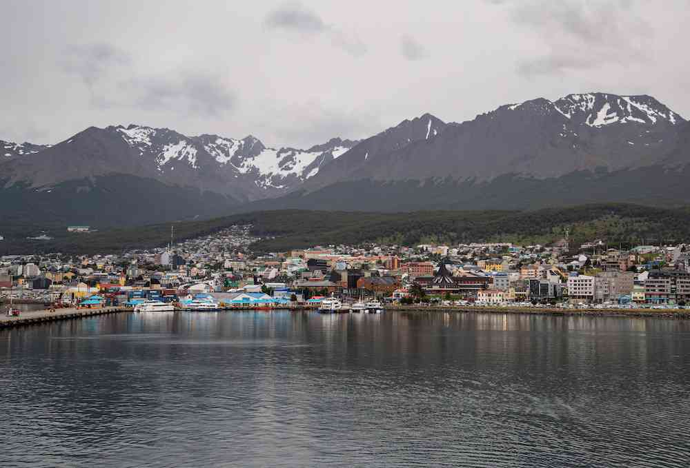 Ushuaia as seen from the sea